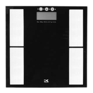 Kalorik Black Electronic Scale with Body Fat Analyzer