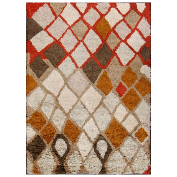 ABC Accent Moroccan Beni Ourain Beige Wool Rug (4'7 X 6'6
