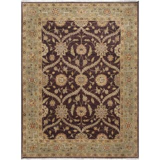ABC Accent Ziegler Hand-knotted Brown Wool Rug (9' x 12')