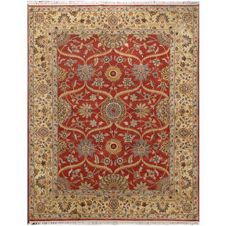 ABC Accent Mugal Hand-knotted Rust Fine Wool Rug (8' x 10')