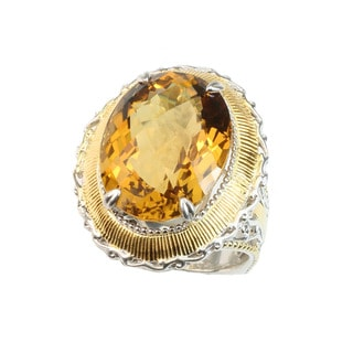 Michael Valitutti Zambian Citrine Ring