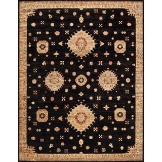 ABC Accent Designer Opera Wool Black Beige rug (4' x 6')