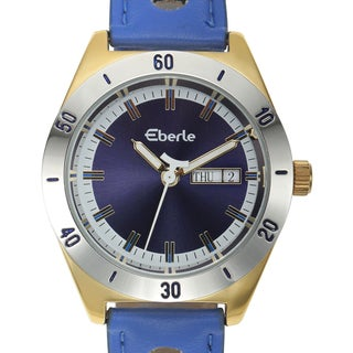 Eberle Women's Burkina Watch with Blue Vegan Leather