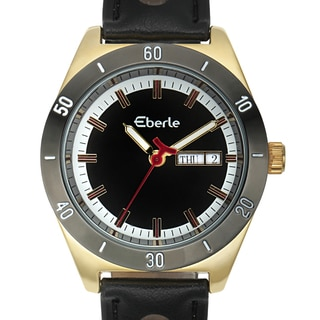 Eberle Women's Burkina Watch with Black Vegan Leather Strap