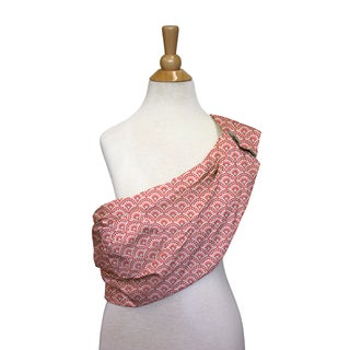 The Peanut Shell Cotton Adjustable Sling in Coral Scallop Print