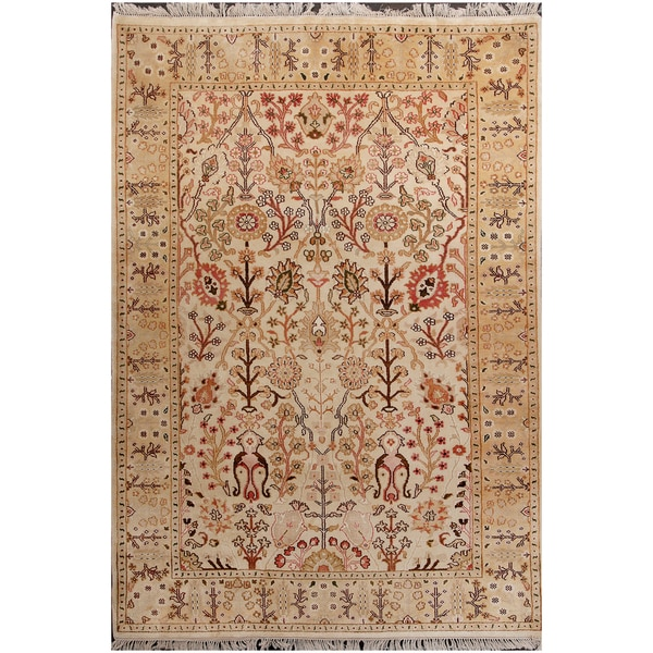Shop ABC Accent Tree Of Life Persian Wool Beige Rug