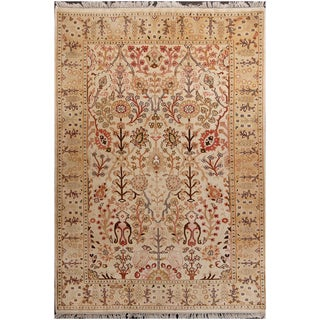 ABC Accent Tree of Life Persian Wool Beige Rug (8' x 10')