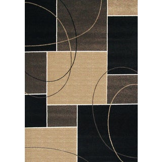 Greyson Living Metro Chocolate/ Tan/ Grey Olefin Area Rug (5'3 x 7'6)