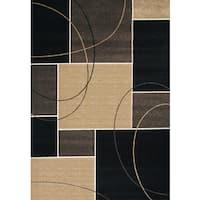 Greyson Living Metro Chocolate/ Tan/ Grey Olefin Area Rug - 5'3 x 7'6