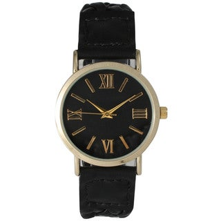 Olivia Pratt Women's Elegant Leather Braided Watch