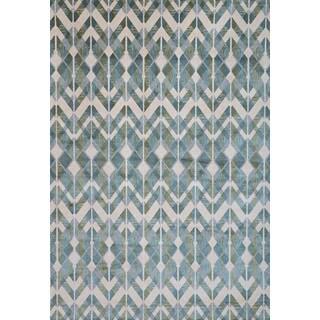 Greyson Living Carosel Blue/ Teal/ Beige Viscose Area Rug (5'3 x 7'6)