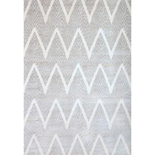 Greyson Living Benton Silver-grey/ White Viscose Area Rug (5'3 x 7'6)