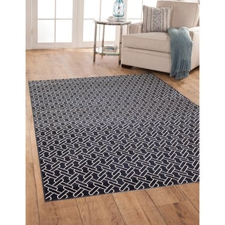 Greyson Living Links Navy/ White Viscose Area Rug (5'3 x 7'6)