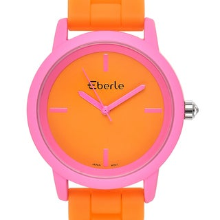 Eberle Women's Vitra Orange Watch with Orange Silicone Strap