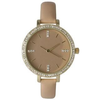 Olivia Pratt Women's Petite Strap Rhinestone Elegance Watch