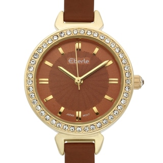 Eberle Women's Austonian Watch with Brown Leather Strap