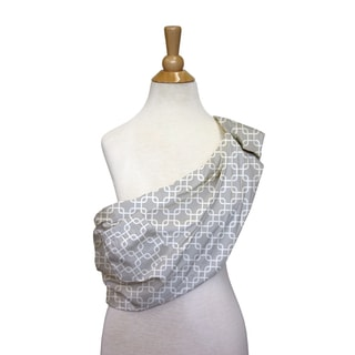 The Peanut Shell Cotton Adjustable Sling in Grey Geo Print