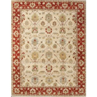 ABC Accent Hand-knotted Ziegler Traditional Beige Wool Rug (8' x 10')