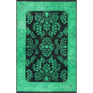 ABC Accent Vintage-style Overdyed Jade Green Rug (4' x 6')