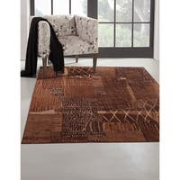 Greyson Living Mohave Rust/ Brown/ Golds Viscose Area Rug - 5'3 x 7'6