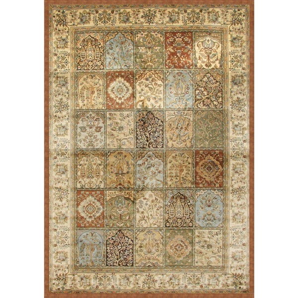 "Coventry Tan/ Rust/ Light Blue Viscose Area Rug by Greyson Living - 5'3"" x 7'9"""