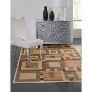 Greyson Living Symmetry Beige/ Tan Viscose Area Rug (5'3 x 7'6)