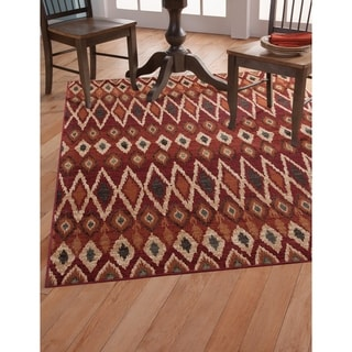 Greyson Living Mesa Rust/ Red Viscose Area Rug (5'3 x 7'6)