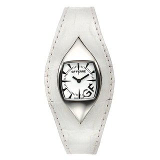 GF Ferre Women's Eyeball White Leather Stainless Steel Quartz Watch