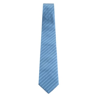 Davidoff 100-percent Silk Light Blue Stripe Neck Tie