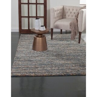 Greyson Living Elmwood Blue/ Multi Olefin Area Rug (5'3 x 7'6)