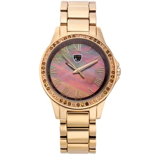 Picard and Cie Women's Kimber Gold-tone Multi-color Mother of Pearl Watch