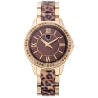Picard and Cie Women's PPK Gold-tone Austrian Crystal Accented Bezel Watch