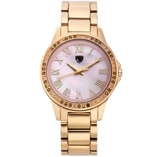 Picard and Cie Women's Kimber Goldtone Pink Mother of Pearl Watch