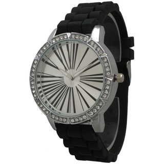 Olivia Pratt Women's Exaggerated Roman Numeral Rhinestone Watch