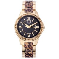 Picard and Cie Women's PPK Gold-tone Austrian Crystal Accented Watch
