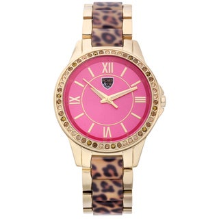 Picard and Cie Women's PPK Gold-tone Austrian Crystal Pink Dial Watch