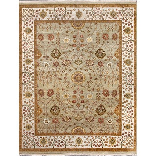ABC Accent Hand-knotted Tree of Life Wool Rug (4' x 6')