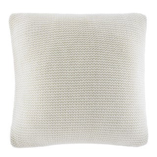 Nautica Bell Point White Knit Decorative Pillow