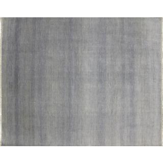 Fine Oushak Muattar Grey Hand-knotted Rug (8' x 9'10)