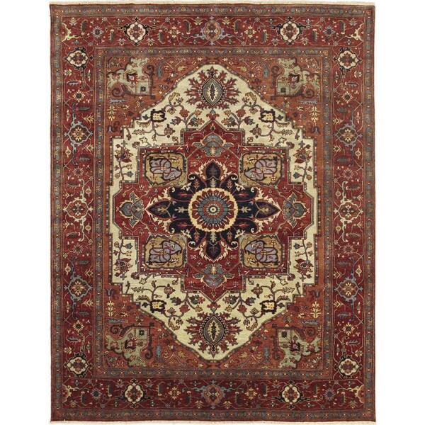 Super Fine Heriz Serapi Khorshed Rust Hand-knotted Rug (8' x 10')