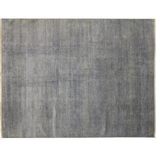 Super Fine Grass Shirin Grey Hand-knotted Rug (8'10 x 11'9)