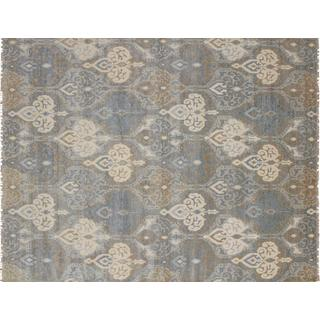 Super Fine Oushak Tallis Grey Hand-knotted Rug (8' x 10'2)