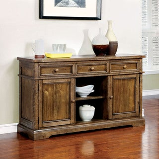 Furniture of America Polson Country Style Medium Oak Dining Server