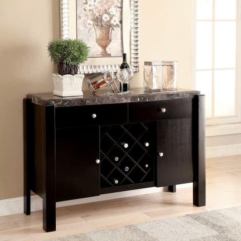 Furniture of America Jared Contemporary Black 52-inch Dining Server