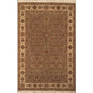 ABC Accent Jaipur Hand-knotted Brown Beige Rug (5' x 8')