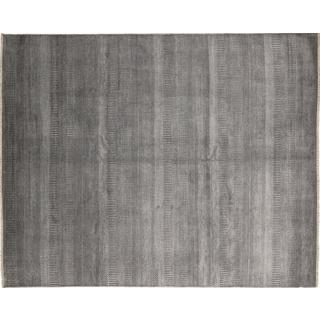 Super Fine Grass Mumtoza Grey Hand-knotted Rug (8' x 10')