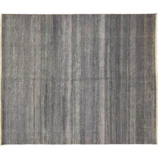 Super Fine Grass Roshan Blue Hand-knotted Rug (8' x 8'8)