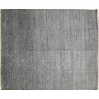 Super Fine Grass Roshan Grey Hand-knotted Rug (8' x 9'10)