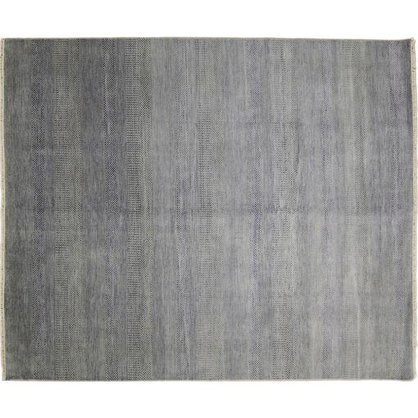 Super Fine Grass Roshan Grey Hand-knotted Rug (8' x 9'10) - 8' x 9'10