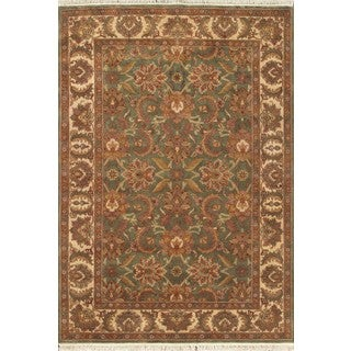 ABC Accent Jaipur Hand-knotted Green Rug (5' x 8')